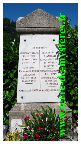 Tombe de Maître Philippe : cimetière de Loyasse, Lyon 5ème