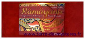 Ramayana, épopée indienne, un beau livre illustré dans la tradition indienne, avec des textes bilingues français / anglais