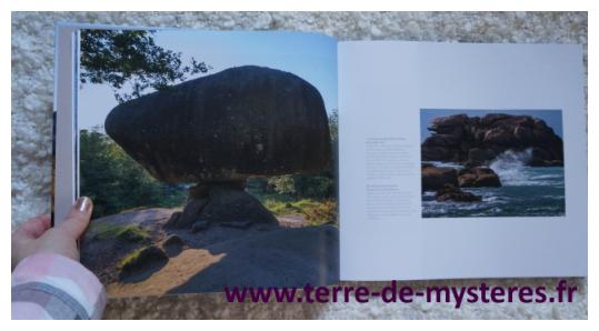 Pour chaque pierre, roche ou ensemble de pierres dressées, une photo et un petit descriptif : un bel ouvrage !